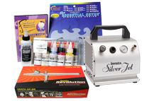 Iwata Art & Graphics Airbrush Kit with Silver Jet Compressor