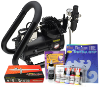 Iwata Art & Graphics Airbrush Kit with Smart Jet Plus Handle Tank Compressor
