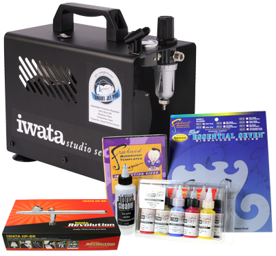 Iwata Art & Graphics Airbrush Kit with Smart Jet Pro Compressor