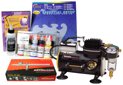 Iwata Art & Graphics Airbrush Kit with Sprint Jet Compressor