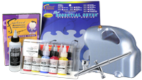 Student Art Kit with Premi-Air Baby compressor and Sparmax SP-35C airbrush