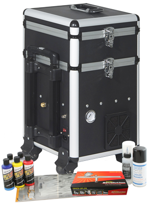 Iwata Custom Graphics airbrush kit with Maxx Jet compressor / storage unit