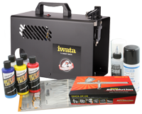Iwata Custom Graphics airbrush kit with Power Jet Lite compressor