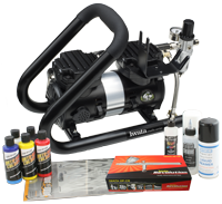 Iwata Custom Graphics Airbrush Kit with Power Jet Plus Handle Tank Compressor