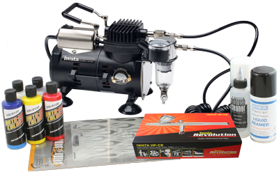 Iwata Custom Graphics airbrush kit with Smart Jet compressor