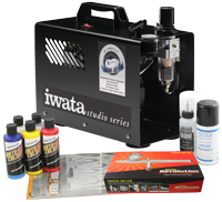 Iwata Custom Graphics airbrush kit with Smart Jet Pro compressor