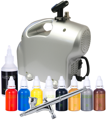 Home Body Art Kit with Sparmax SP-35C Airbrush and Baby Compressor