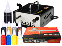Iwata Professional Mobile Body Art Kit with Ninja Jet Compressor