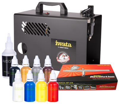 Iwata Professional Body Art Kit with Power Jet Lite Compressor
