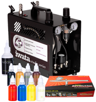 Iwata Professional Body Art Kit with Power Jet Pro Compressor