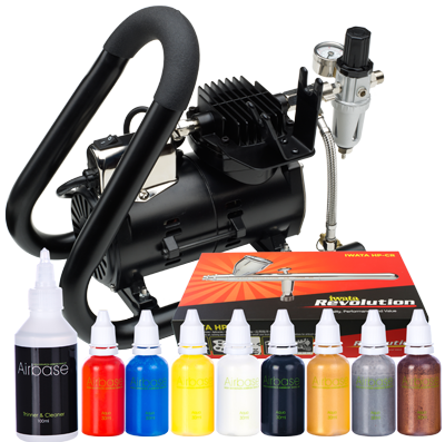 Iwata Professional Body Art Kit with Smart Jet Plus Handle Tank Compressor