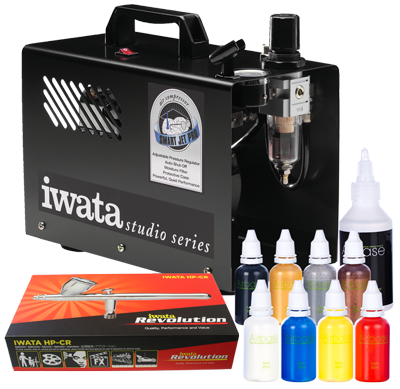 Iwata Professional Body Art Kit with Smart Jet Pro Compressor