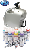 Cake Decorating Airbrush Kit with Premi-Air Baby compressor and Sparmax SP-35C airbrush.