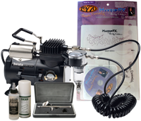 Iwata Smart Jet Professional Cosmetic Kit with Zazzo Templates and DVD