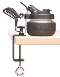 Iwata Universal Workstation (Spray Out Cleaning Pot and Universal Airbrush Hanger)