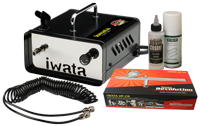 Iwata Professional Mobile Make-Up Kit with Ninja Jet Compressor