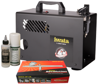 Iwata Professional Make-Up Kit with Power Jet Lite Compressor
