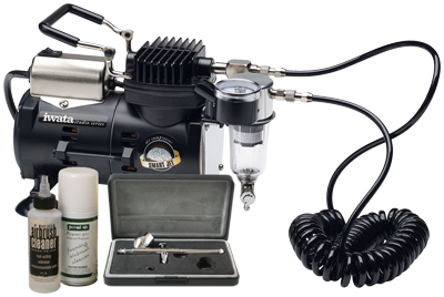Iwata Professional Make-Up Kit with Smart Jet Compressor
