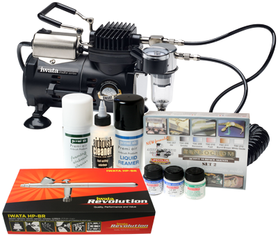 Iwata Modeller airbrush kit with Smart Jet compressor