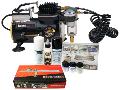 Iwata Modeller airbrush kit with Sprint Jet compressor