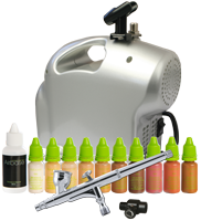 Airbase Make-up Kit with Sparmax SP-35C Airbrush and Baby Compressor