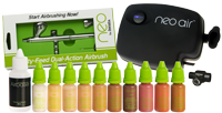 Airbase Make-up Kit with NEO CN airbrush and NEO Air compressor