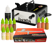 Airbase Make-up Kit with Iwata airbrush and Ninja Jet compressor