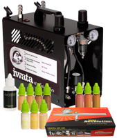 Airbase Make-up Kit with Iwata airbrush and Power Jet Pro compressor