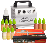 Airbase Make-up Kit with Iwata airbrush and Silver Jet compressor