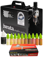 Airbase Make-up Kit with Iwata airbrush and Smart Jet Pro compressor