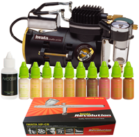 Airbase Make-up Kit with Iwata airbrush and Sprint Jet compressor