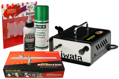 Iwata Professional Mobile Nail Art Kit with Ninja Jet Compressor