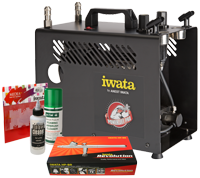 Iwata Professional Nail Art Kit with Power Jet Pro Compressor