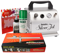 Iwata Professional Mobile Nail Art Kit with Silver Jet Compressor
