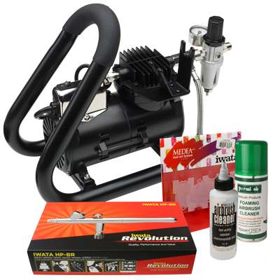 Iwata Professional Nail Art Kit with Smart Jet Plus Handle Tank Compressor