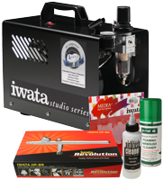 Iwata Professional Nail Art Kit with Smart Jet Pro Compressor