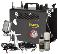 Iwata Professional RG-3 Spray Gun Tanning Kit with Power Jet Pro Compressor