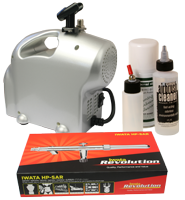 Home Spray Tanning Kit with Iwata Airbrush and Premi-Air Baby Compressor