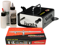 Iwata Professional Mobile Spray Tanning Kit with Ninja Jet Compressor
