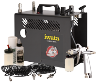 Iwata Professional G6 Spray Gun Tanning Kit with Power Jet Pro Compressor