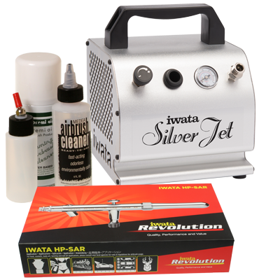 Iwata Professional Mobile Spray Tanning Kit with Silver Jet Compressor